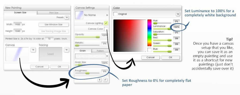 new canvas tips roughness texture white background