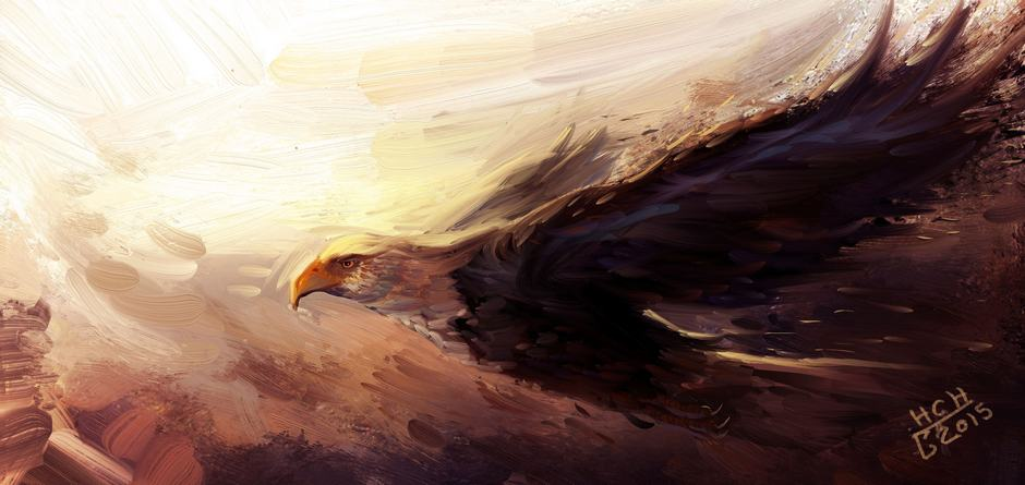 Oghab (Eagle) by Hassan Chenary