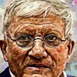 Portrait of David Hockney by Edward Ofosu