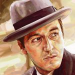 Michael Corleone pacino ArtRage artist Phil Galloway small