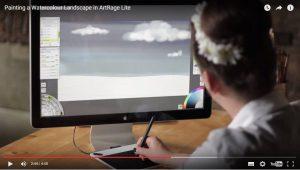 painting artrage watercolour tutorial