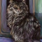 Pastel cat close up by Ramona MacDonald in ArtRage 5