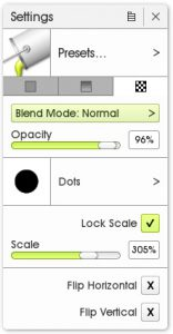 pattern fill settings