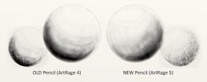 Get realistic graphite effects with the ArtRage 5's pencil tool