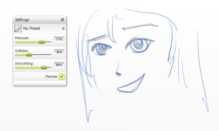pencil sketch precise modes