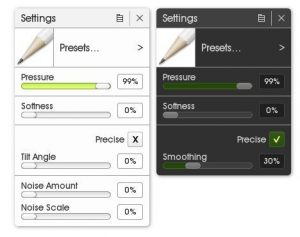 pencil tool settings artrage 5