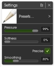 pencil tool settings artrage 5 precise mode