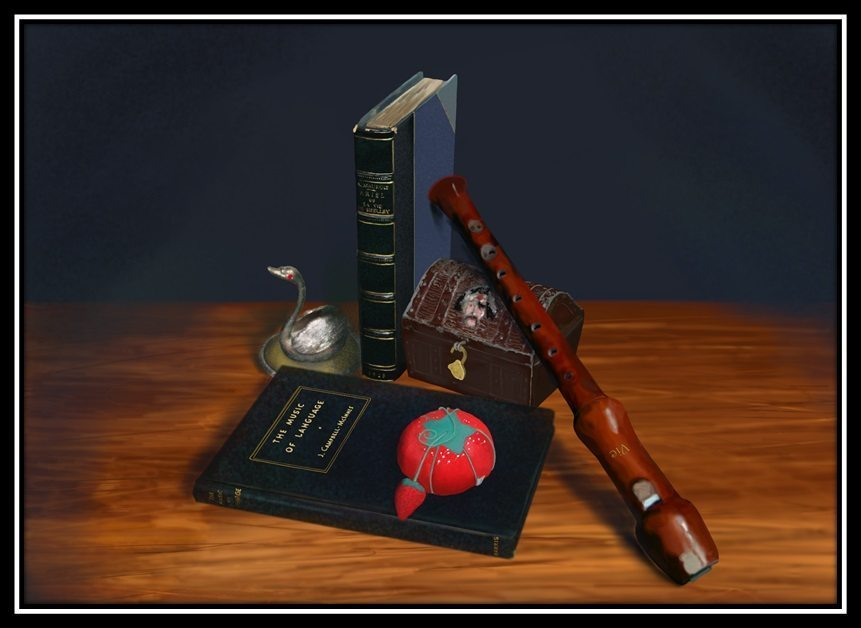 photorealism still life by Vic Shelley