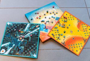The final prototype game boards for Antagonism