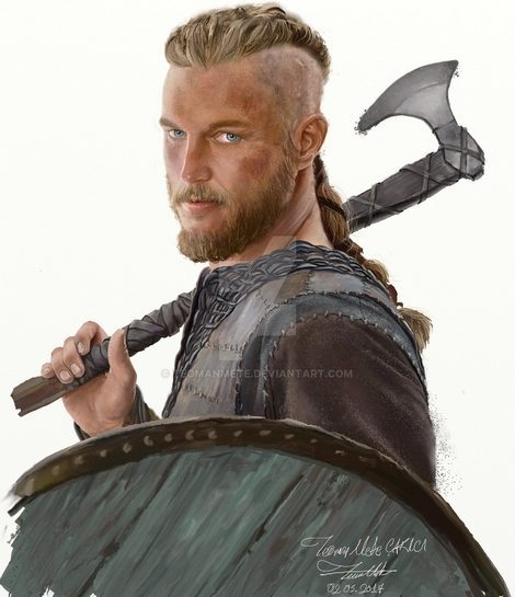 Ragnar Lodbrok (Lothbrok) from Vikings  by Teoman Mete CAKICI