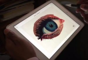 raheem-nelson-blending-human-eye-oils-artrage-ipad