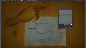 remove color matte filter hand sketch 1