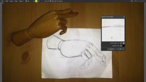 remove color matte filter hand sketch 3