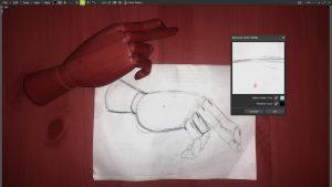 remove color matte filter hand sketch 4