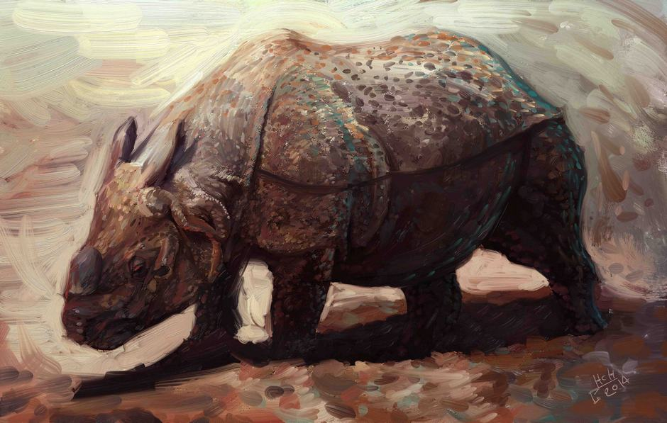 Rhino by Hassan Chenary