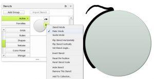 ruler mode simple shape stencil circle artrage 5