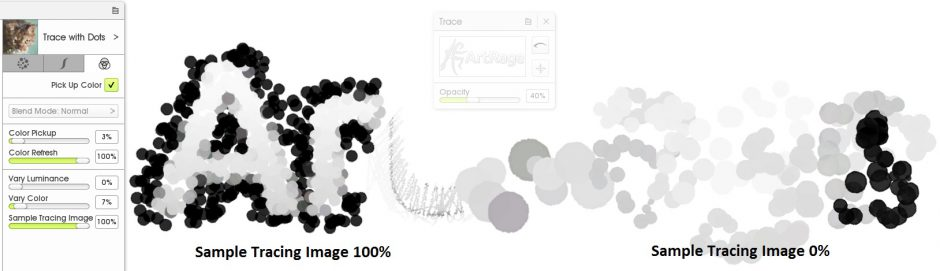 sample tracing image custom brush designer ArtRage 5