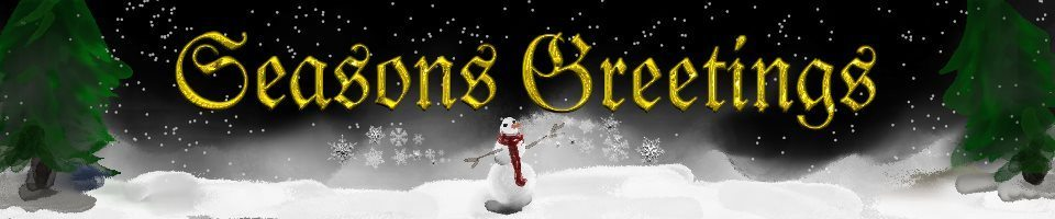 seasons greetings artrage snowman  banner