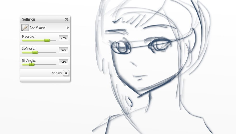 sketch for inking flat canvas manga tutorial