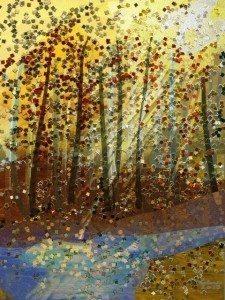 Glittery Trees by Helene Goldberg