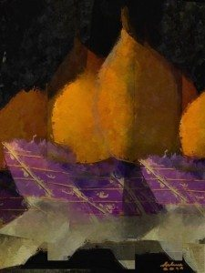 Still Life with Pears 12x16 by Helene Goldberg