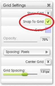 The Snap To Grid option is found at the top of the Grid menu.