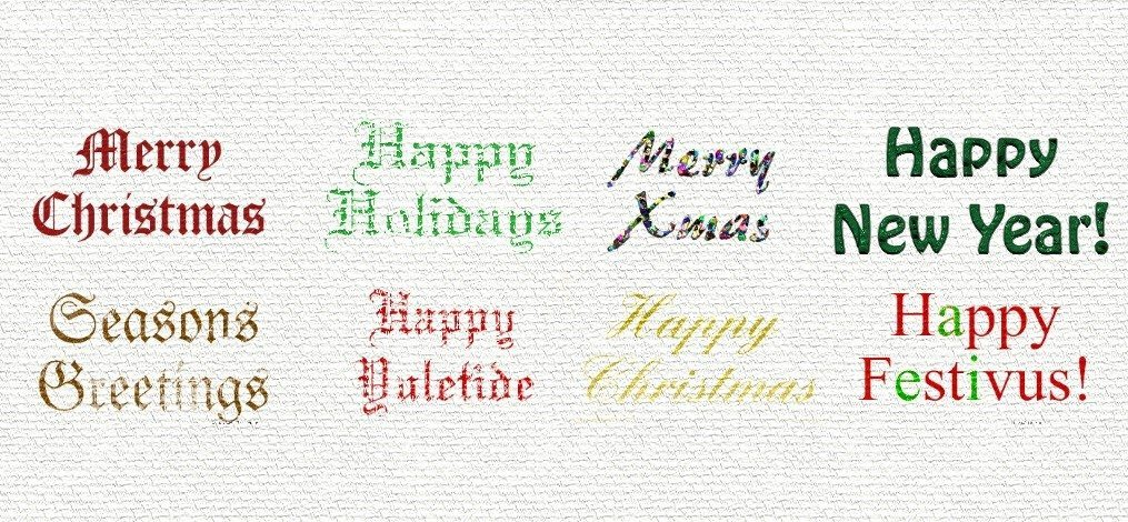 stencils festive greetings