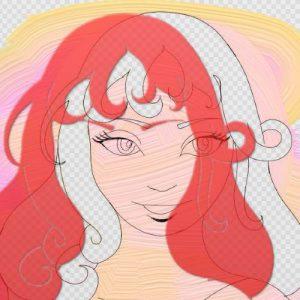 stencils hair manga girl masking artrage 5