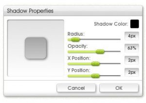 sticker spray shadow properties