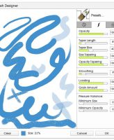 Custom Brush Designer Stroke Settings