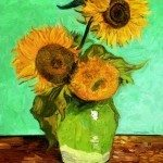Study of Van Gogh's 'Sunflowers' by Edward Ofosu