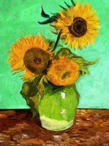 Study of Van Gogh's 'Sunflowers' by Edward Ofosu