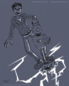 tesla artrage art by Mark Paulik