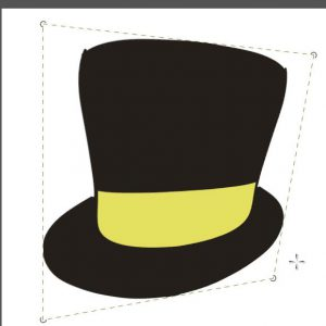 perspective transform paint top hat