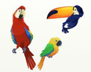 tropical birds artrage art by Mark Paulik
