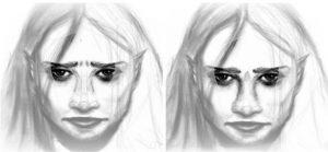 unyne warp eyebrows portrait pencil artrage 5