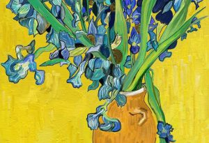 van gogh Irises against yellow wall by Alex Bearne ArtRage iPad art