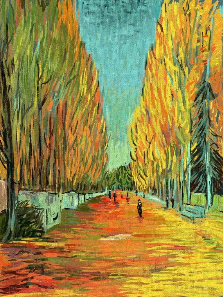 vincent-van-gogh's alychamps by Alex Bearne ArtRage iPad art