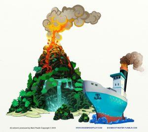 volcano_final artrage art by Mark Paulik