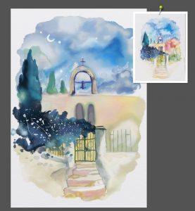 watercolour study WIP