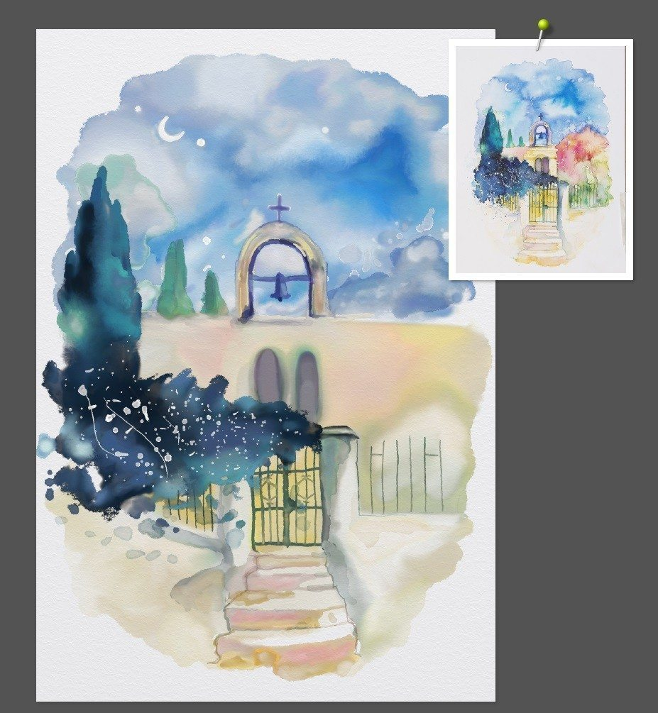 watercolour study WIP