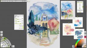watercolour study artrage 4 screenshot