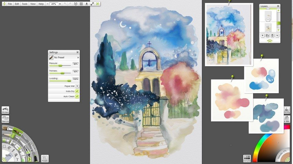 watercolour study artrage 4 screenshot
