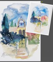 Greek Archway Watercolor Tutorial in ArtRage 4