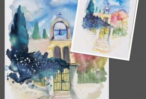 watercolour study reference