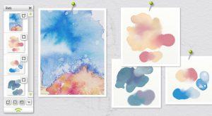 watercolour study scraps colout mix test